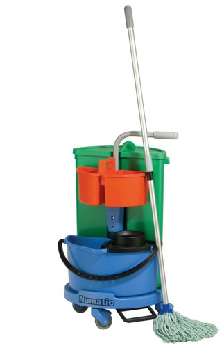 Numatic Janitorial Carousel with 2 Buckets and Storage Caddy W500xD545xH870mm Ref NC1/TM/ST
