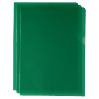 Green Cut Flush Folders Pk100