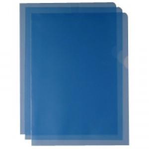Cut Flush Folder Blue A4 Pk100