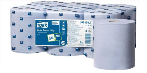 Tork Basic Centrefeed Wiper Blue 1 Ply 300mmx200mmPack 6 128109