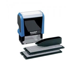 Trodat 4912 Printy Typo D-I-Y Stamp Kits Ink Tweezers and Lettering 3mm 4mm 4 Line Ref 43197
