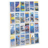 Safco 24 Pocket Deluxe Pamphlet Rack