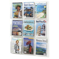 Safco 9 Pocket Magazine Presenter A4
