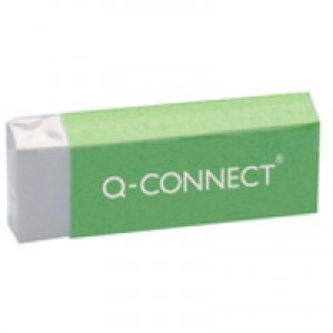 Q-Connect White PVC Eraser Pk20