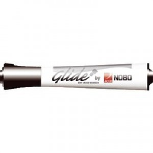 Nobo Glide Dry Wipe Black Marker Pk12