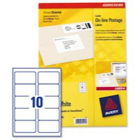 Avery Smartstamp Labels Laser Logo 10 per Sheet 135x38mm Ref L5103-40 [400 Labels]