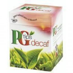 PG tips 80 Decaffeinated Teabags 6390