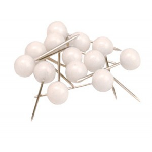 Business Map Pins 5mm Head White [Pack 100]