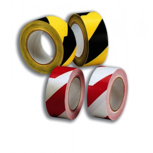 5 Star Office Hazard Tape Soft PVC Internal Use 50mmx33m Red and White