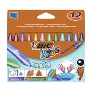 Image for Bic Kids Plastidec Triangle Crayons Pk12