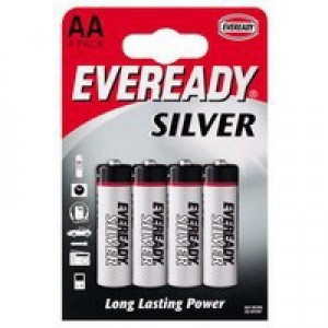 Eveready Super H/Duty AA Batteries Pk4
