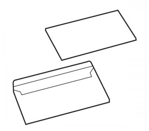 5 Star Value Envelopes Press Seal Non-Window 90gsm DL Ref 1081 [Pack 1000]