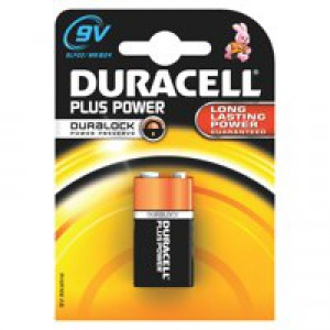 Duracell Plus Power Battery Size  9V Pk1