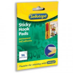 Sellotape Sticky Hook Pads 96 Pads 20x20mm Yellow Ref 504050