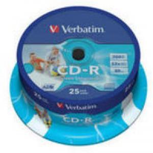 Verbatim CD-R 700MB/80min 52X Pk25 43439