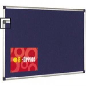 Bi-Office Blue 600x900 Al/Frm Feltboard