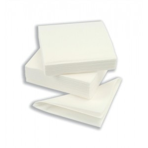 Napkin High Quality Single Ply 400x400mm White [Pack 600]