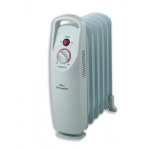 5 Star Facilities Mini Radiator Oil Filled with Thermostat for 5m.sq 800W
