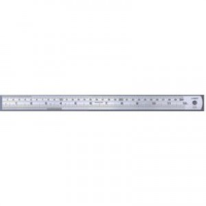 Linex Ruler Stainless Steel Imperial and Metric with Conversion Table 600mm Ref Lxesl60