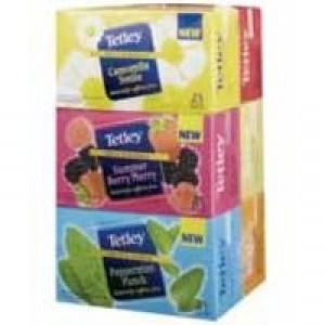 Tetley Tea Bags Fruit and Herbal Variety Box of 25 Ref 1581j [Pack 6]