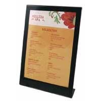 Deflecto A4 Sign Holder Black/Clear