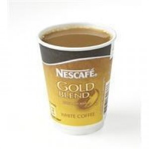 Nescafe & Go Gold Blend White Coffee Foil-sealed Cup for Drinks Machine Ref 12310635 [Pack 8]