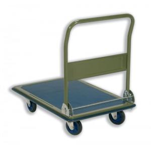 5 Star Facilities Platform Truck Heavy-duty Capacity 300kg Baseboard W616xL916mm Blue and Grey