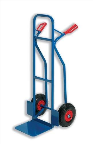 Warehouse Hand Trolley Sturdy Capacity 180kg Foot Size W476xL510mm Blue Ref HT2502 [796568]