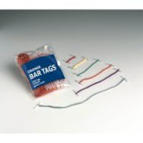 Image for Business Treasury Tags Plastic-ended 76mm Green [Pack 100]