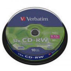 Verbatim CD-RW 8-12X Spindle Pk10 43480