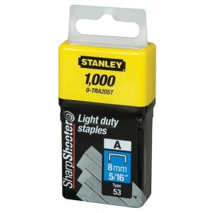 Stanley Light Duty Staples 8mm Ref 0-TRA205T [Pack 1000]