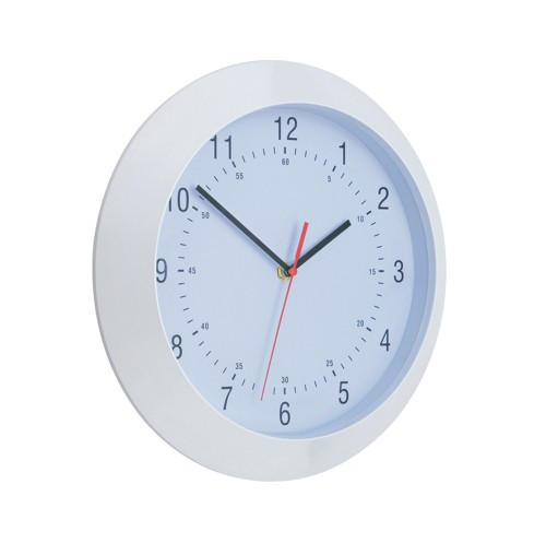 Business Wall Clock With Coloured Case Diameter 300mm White
