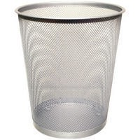 Q-Connect Waste Basket Mesh 18Ltr Silver