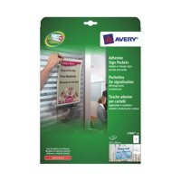 Avery Self-Adhesive Sign Pocket 221x304mm 1 per Sheet Ref L7083-10 [10 Signs]