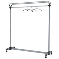 Business Coat Rack Mobile 4 Wheels Metal Frame Capacity 36 Hangers