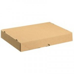Brown Carton with Lid 305x215x50mm Pk10