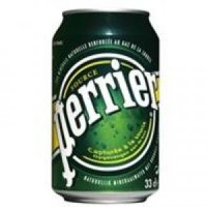 Perrier Sparkling Water Soft Drink Can 330ml [Pack 24]