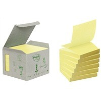 Post-it Yellow Z-Notes 76x76mm Pk6