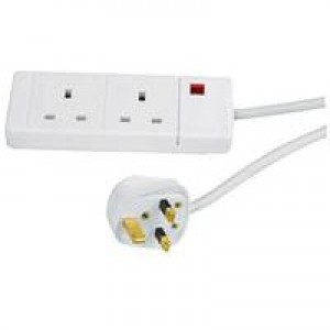 Image for CED 2Way Ext Lead White
