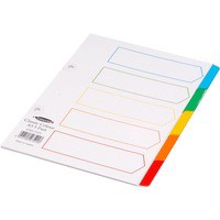 Concord Index 5-Part A5 White with Multi-Colour Tabs 07501/CS75