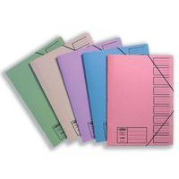 Concord Elasticated 9-Part File Foolscap Assorted Pack of 10 19099