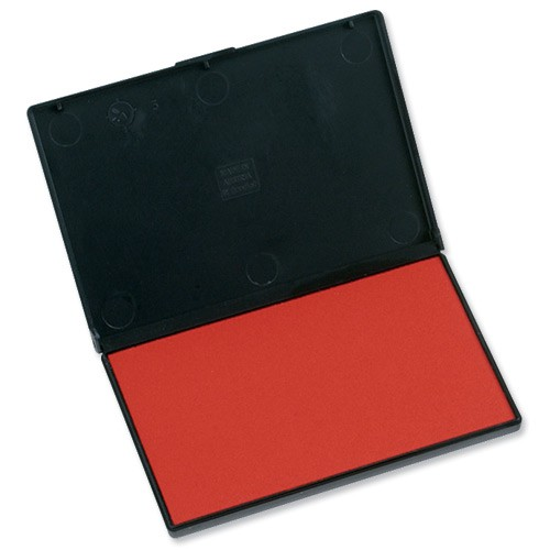 Trodat 9052 Ink Stamp Pad for Classic Stamp Range 110x70mm Red Ref 56346
