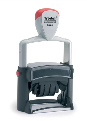 Trodat Professional TVC5460 Bespoke Line Dater Stamp Self-Inking 4mm Date 56x33mm Text Area Ref 156326