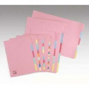 Concord Subject Dividers 230 Micron 5-Part A4 Ref 71199/J11 [Pack 50]