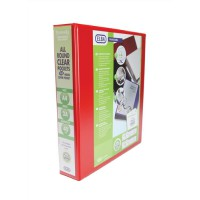 Image for Elba Leverless Arch Binder PVC 2 Ring Size 40mm Red A4 Ref 400008955 [Pack 5]
