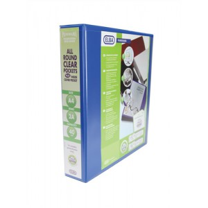 Elba Leverless Arch Binder PVC 2 Ring Size 40mm Blue A4 Ref 400008954 [Pack 5]