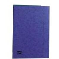 Europa 300micron Square Cut Folder Foolscap Dark Blue 4825