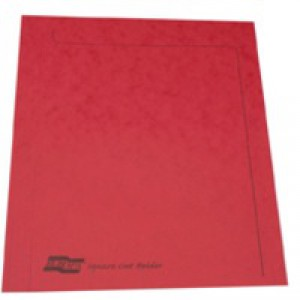 Europa Square Cut Folder Red 4828