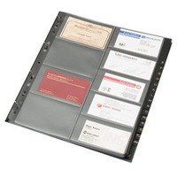 Card Holder Refill Sheets for De Luxe Business Card Binder A4 [Pack 5]