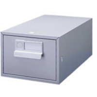 Bisley Card Index Cabinet 5x3 inches Single Grey FCB13